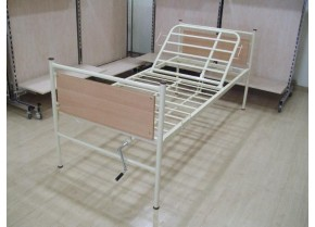 One Crank Hospital Bed with Backrest Lift KN 200.1 S