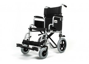 Metallic Wheelchair with Medium-Sized Wheels Mobiak Gemini 0811302