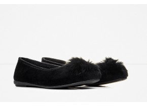 Comfy Women's Anatomic Ballerina Slippers 2461 Black