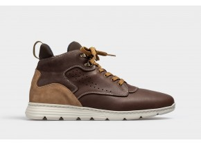 On Foot Men's Anatomic Boots Deportivo Anillas 3010 Cafe